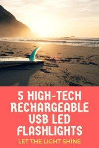 LED Flashlight Rechargeable USB