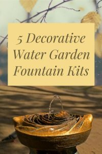 Water Garden Fountain Kit