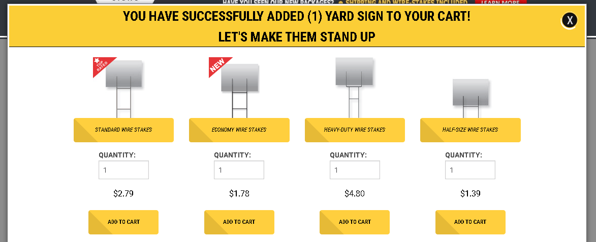 Ordering Yard Signs