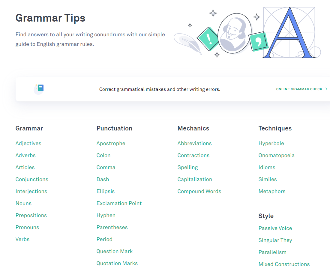 Grammarly Grammar Tips