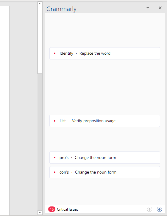 Grammarly Word Add-in