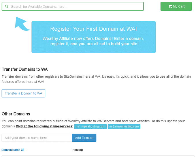 SiteDomains - Register and transfer domains to WA