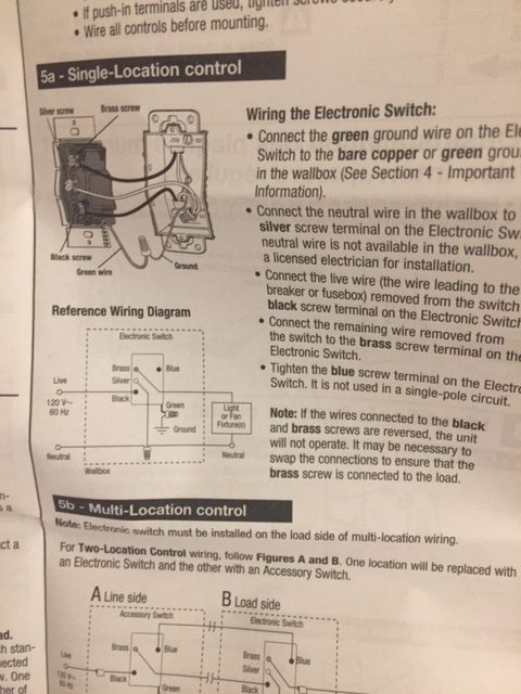 Bathroom Fan and Light Replacement Lutron Timer Switch Instructions