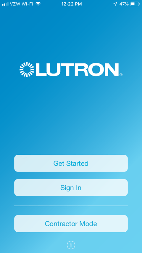 Lutron Caseta App Install on iPhone - Getting Started