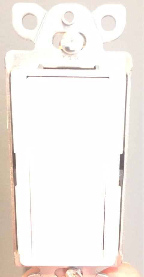 Lutron Claro On/Off Switch, 15-Amp, Single-Pole, CA-1PS-WH, White - Front View