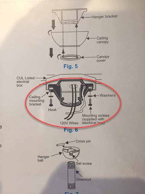 Ceiling mounting bracket for the fan
