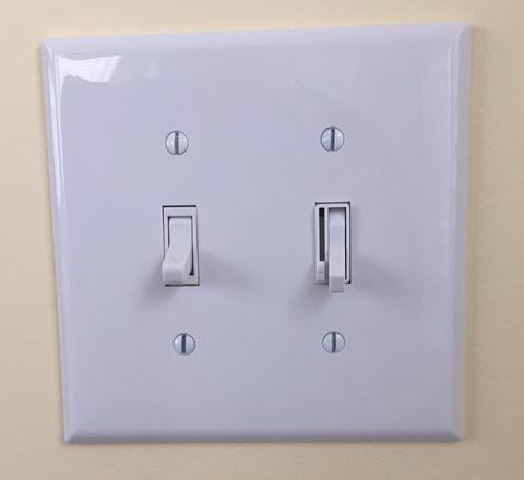 Existing Sunroom Ceiling Fan with Light Switches