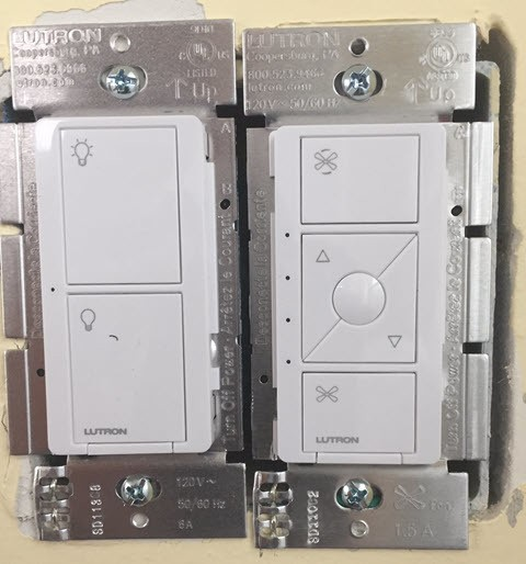 Attach the New Caseta Switches
