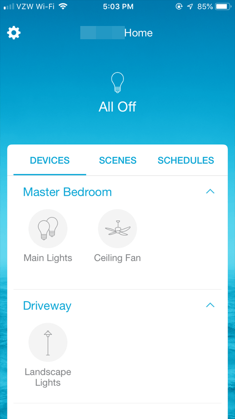 Sharing the Lutron Caseta App - Data Synced