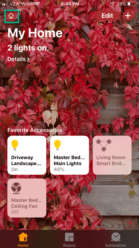 Sharing the Lutron Caseta App - Home Setup Icon